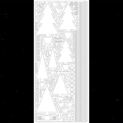 Kontúrmatrica - fenyőfák, fekete, 0435 - AKCIÓS