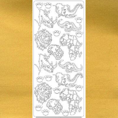 Kontúrmatrica - afrikai vadállatok, arany, 1751  - AKCIÓS