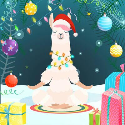 Szalvéta - Karácsonyi láma jóga