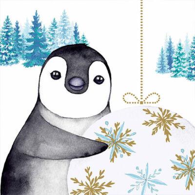 Szalvéta - Pingvin karácsony