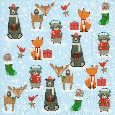 Szalvéta csomagban - Állatok a hóban
