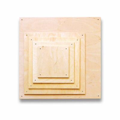 Fa lap szalvéta technikához - 12x12 cm, rétegelt lemez