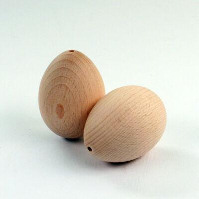 Fa tojás, lyukas fatojás - 6x4 cm
