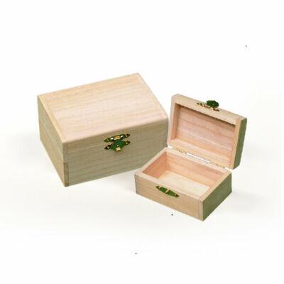 Fa dobozkészlet - 2 db-os téglatest, 9x13x6/6,5x11x4 cm