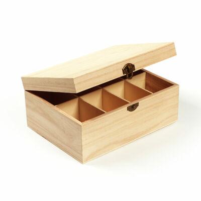 Fa doboz teafiltertartó - 8 rekeszes, 23x17x10 cm
