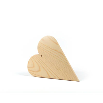 Fa szív akasztható - 16,3x20x1 cm