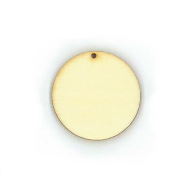 Fa ékszeralap - kerek, 3,5 cm