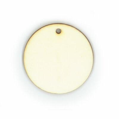 Fa ékszeralap - kerek, 4,5 cm