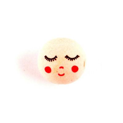 Préseltpapír fej - Babafej, alvó, gömbölyű, 3 cm