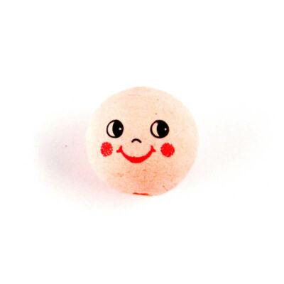 Préseltpapír fej - Babafej mosolygó, gömbölyű, 2,5 cm