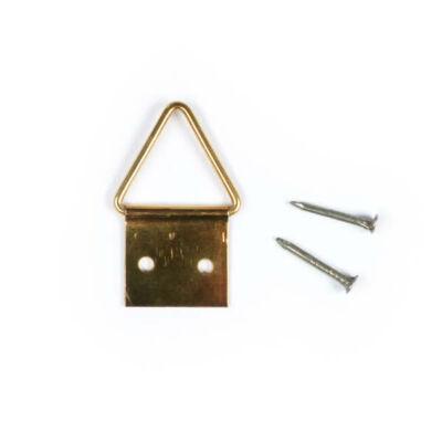 Képakasztó, réz - háromszög, 1,5 cm