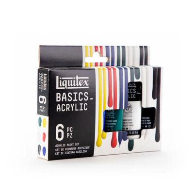 Liquitex Basics akrilfesték készlet - 6x22 ml