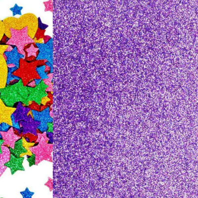 Dekorgumi - csillámos lila