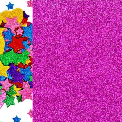 Dekorgumi - csillámos pink