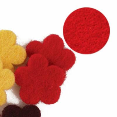 Filc forma, lapos - virág, piros, darabra
