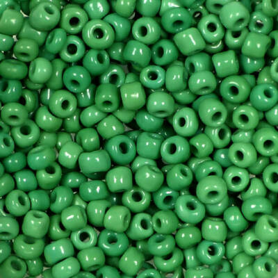 Kásagyöngy, telt színű, 2 mm - sötétzöld