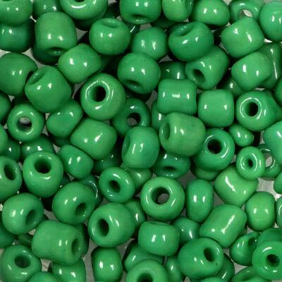 Kásagyöngy, telt színű, 4 mm - sötétzöld