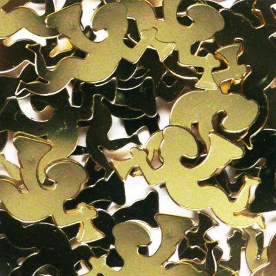 Flitter, ragasztható 2,5 g - angyal, arany