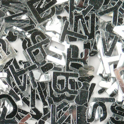 Flitter, ragasztható 2,5 g - betű, ezüst
