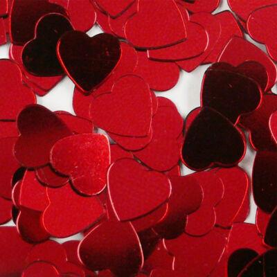 Flitter, ragasztható 2,5 g - szív, piros