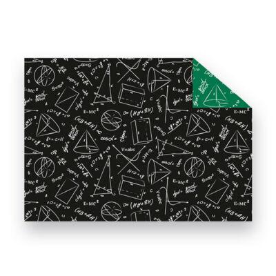Fotókarton, 49,5x68 cm - Iskolatábla - reál, fekete-zöld