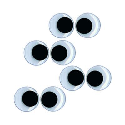 Mozgó szem, ragasztható, kerek - 10 mm - 8 db