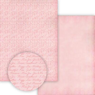 Fotókarton, 49,5x68 cm - Wedding rose - felíratok, rózsaszín