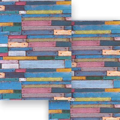 Fotókarton, 49,5x68 cm - színes deszkák