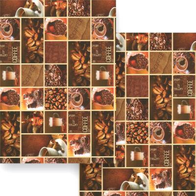 Fotókarton, 49,5x68 cm - kávé