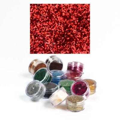 Csillámpor 5 g - piros