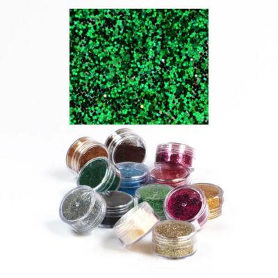 Csillámpor 5 g - smaragdzöld