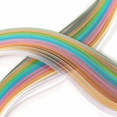 Hobbyművész Quilling papírcsík, 130 g - pasztell, 3 mm, 280 db