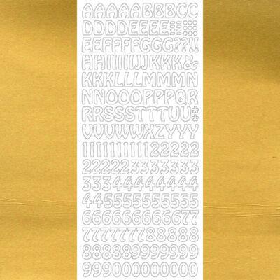 Kontúrmatrica - betűk, számok, arany, 1625