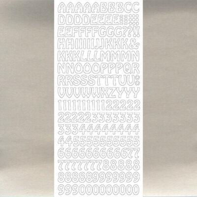 Kontúrmatrica - betűk, számok, ezüst, 1625