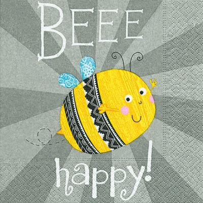Szalvéta - Légy boldog! Bee happy (r)