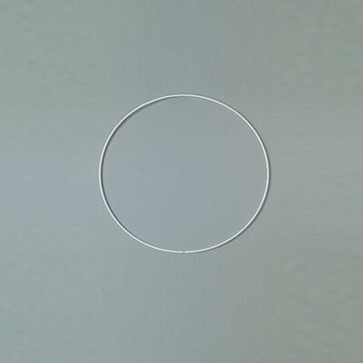 Fém alapkarika, fehér, álomfogó - 12 cm