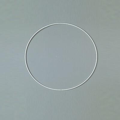 Fém alapkarika, fehér, álomfogó - 15 cm