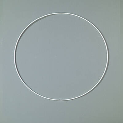 Fém alapkarika, fehér, álomfogó - 20 cm