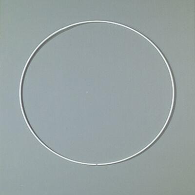 Fém alapkarika, fehér, álomfogó - 25 cm