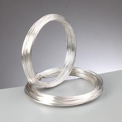 Ékszer drót, 0,6 mm, 10 m - ezüst