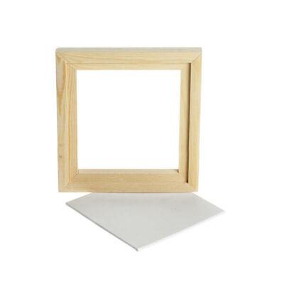 Festővászon fa kerettel, 15,2x15,2 cm