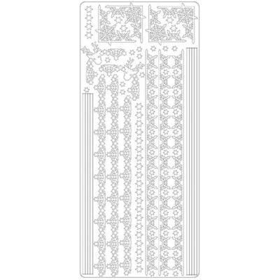 Kontúrmatrica - hókristály sor, fehér, 2382