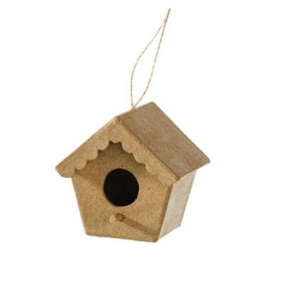 Papírmasé függeszthető madárház - 5x7x6,5 cm