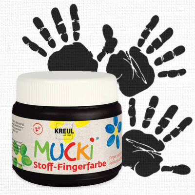 Mucki ujjfesték textilre, 150 ml - fekete