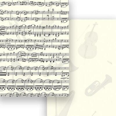 Fotókarton, A4 - kotta, hangszerek