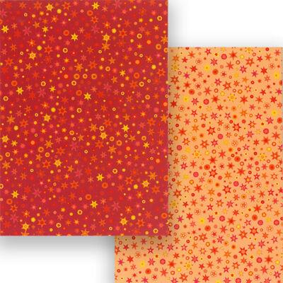 Fotókarton, A4 - csillagos,  piros