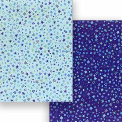 Fotókarton, A4 - csillagos, kék