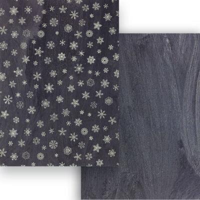 Fotókarton, A4 - tábla: hókristályok