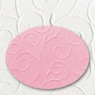 Domborított karton, A4, 220 g, arabeszk - 23, rózsaszín