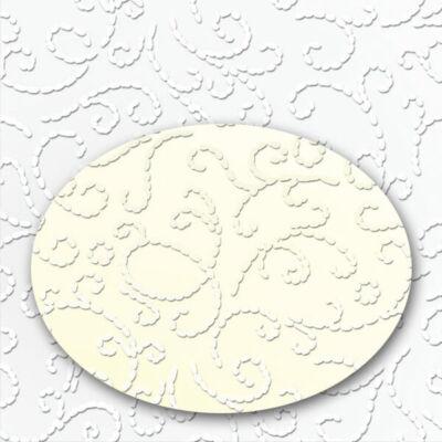 Fotókarton, A4 - ornament lakkozott, tört fehér